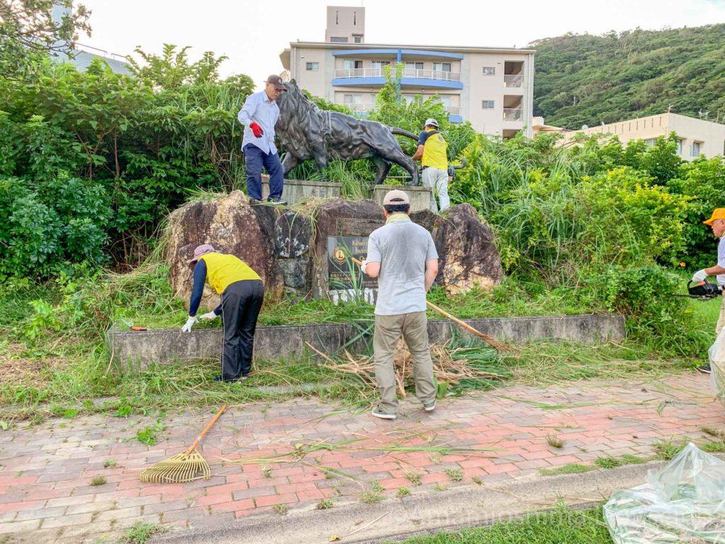 奄美大島ライオンズクラブ 清掃作業写真